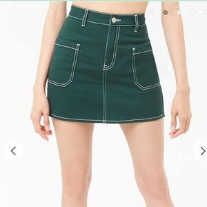 F21 Contrast Stitch Skirt